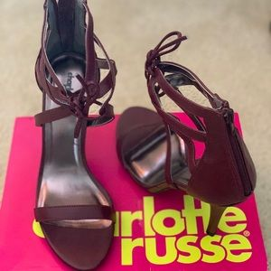 Sandals Oxblood high heels